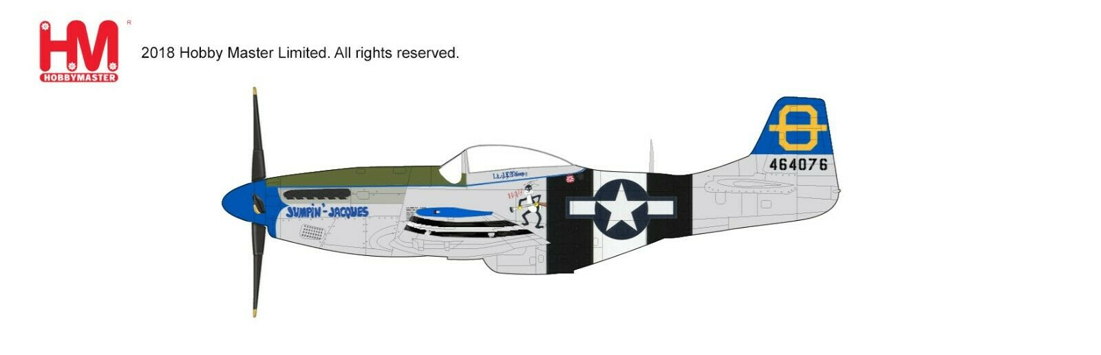 Hobby Master HA7740, P-51D Mustang  Jumpin Jacques  464076, 3rd FS, 3rd Fighter Group, Phil