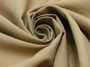 Baumwollstoff-Fahnentuch-unifarben-S-amp-W-Stoffe-Sand-150-cm