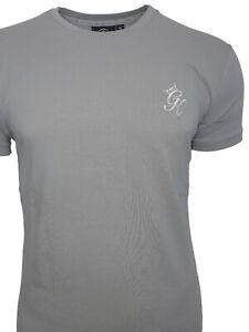 Gym-King-Mens-SS-New-Designer-Slim-Fit-Curved-Hem-Grey-Origin-T-Shirt-Tee