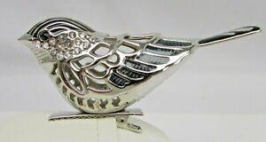 $8 Kurt Adler   Silver Bird Chickadee Clip Ornaments Z11