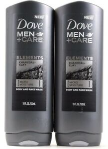2 Dove Men Care Elements Charcoal Clay Micro Moisture Body And Face Wash 18 Oz 11111653221 Ebay