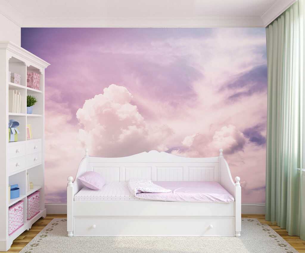 3D Purple Clouds 813 Wallpaper Mural Wall Print Wall Wallpaper Murals US Lemon