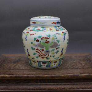 CHINESE-OLD-MARKED-DOUCAI-COLORED-PHOENIX-AND-FLOWERS-PATTERN-PORCELAIN-LID-JAR