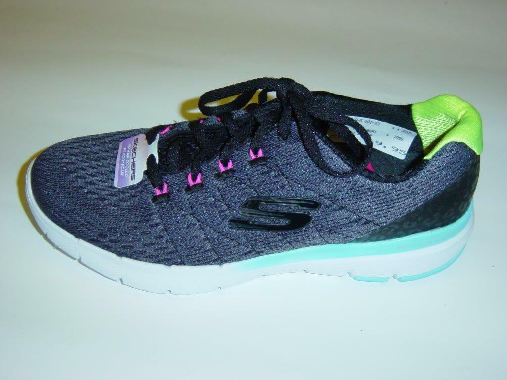 Skechers Loafers Trainers   Dark Grey   MESH   Memory Foam   Size 37 41