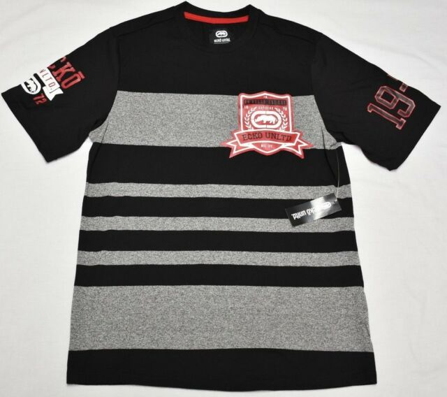 33a7c744 Frequently bought together. Ecko Unltd T-Shirt Men's Size S Striped Logo  Graphic ...