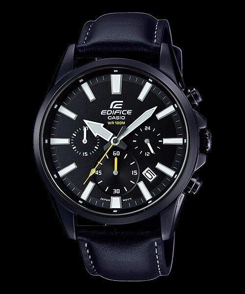 EFV-510BL-1A Black Men's Watches Casio Edifice Chronograph 100m World time New