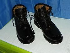 KOREAN MEN'S WORK BOOT BLACK LEATHER LACE UP SIZE 9