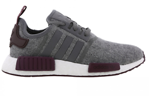 official photos f6e9b bdfec Image is loading Mens-ADIDAS-NMD-R1-Grey-Wool-Running-Trainers-