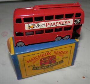 1960s-Matchbox-Lesney-Trolley-Bus-56-Trolley-Bus-Grey-plastic-wheel-mint-in-box