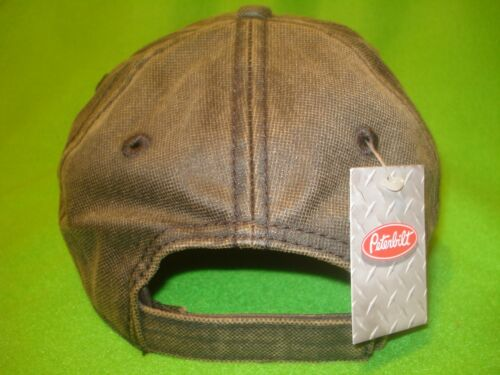 PETERBILT HAT Waxed Cotton Eagle Flag Cap      *FREE SHIPPING IN U.S.A.*