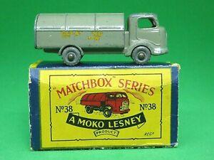 Matchbox-Lesney-No-38a-Karrier-Bantam-rechazar-camion-en-caja-039-B-039-Marron-Muy-Raro