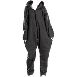Jumpsuit Hausanzug: Jumpsuit aus flauschigem Fleece, schwarz, Größe XXL
