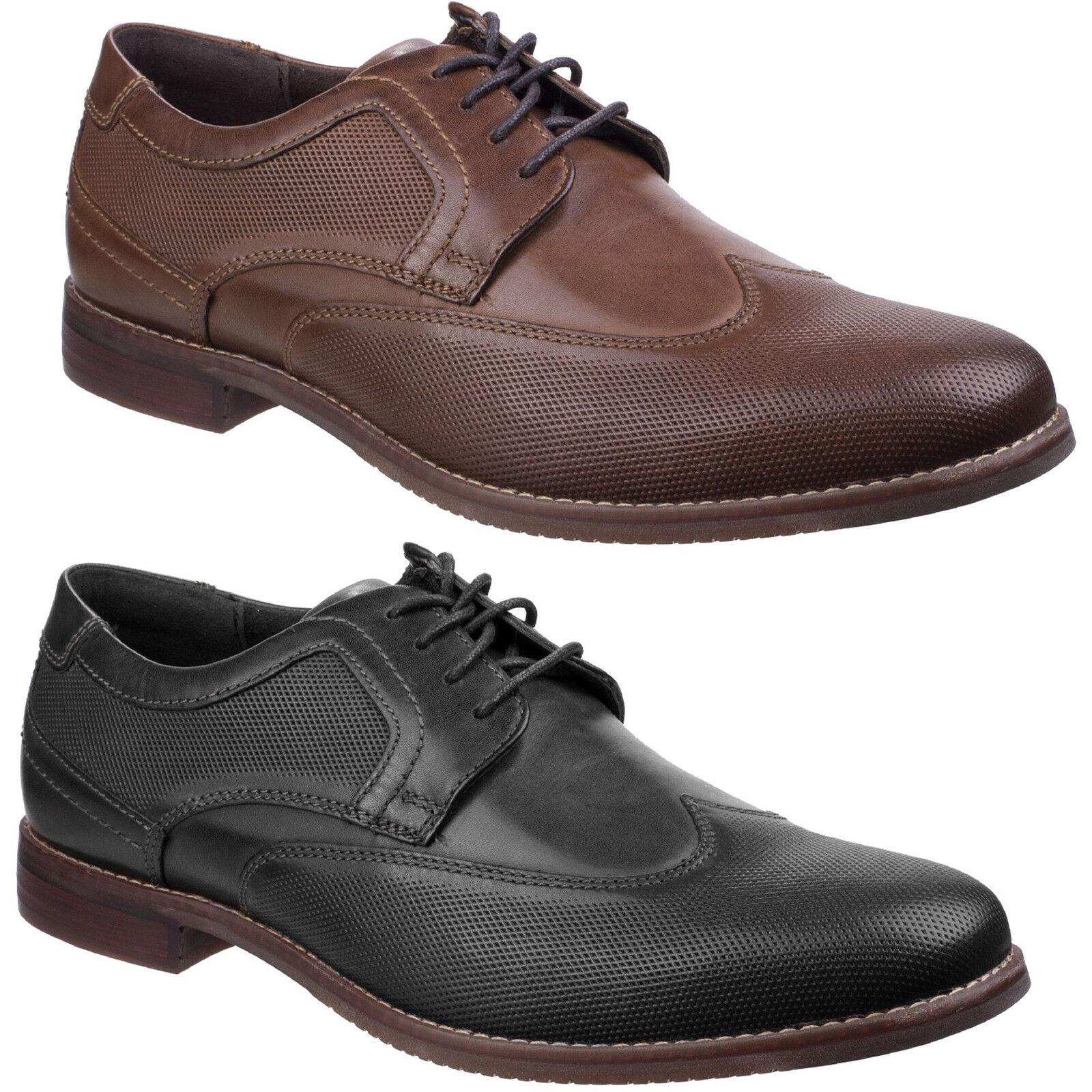 Rockport Style Zweck Perforiert Herren Schuhe Klassisch Leder Flügelspitze Smart