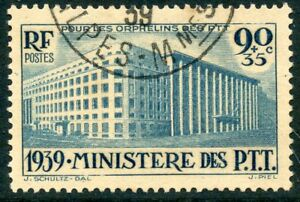 Topical Stamps Candid Timbre France Oblitere N° 424 Ministere Des P.t.t Cote 22,50 €