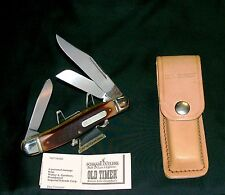 "Schrade 858OT Knife & Sheath W/Care Instructions 4-5/8"" Closed Circa-1978 Rare"