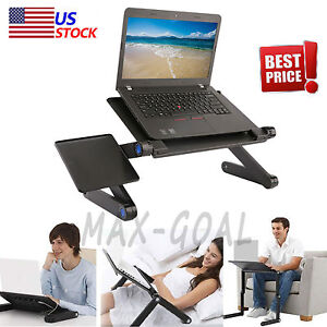360° Adjustable Foldable laptop Desk Aluminum Table Stand Bed Notebook Tray LY