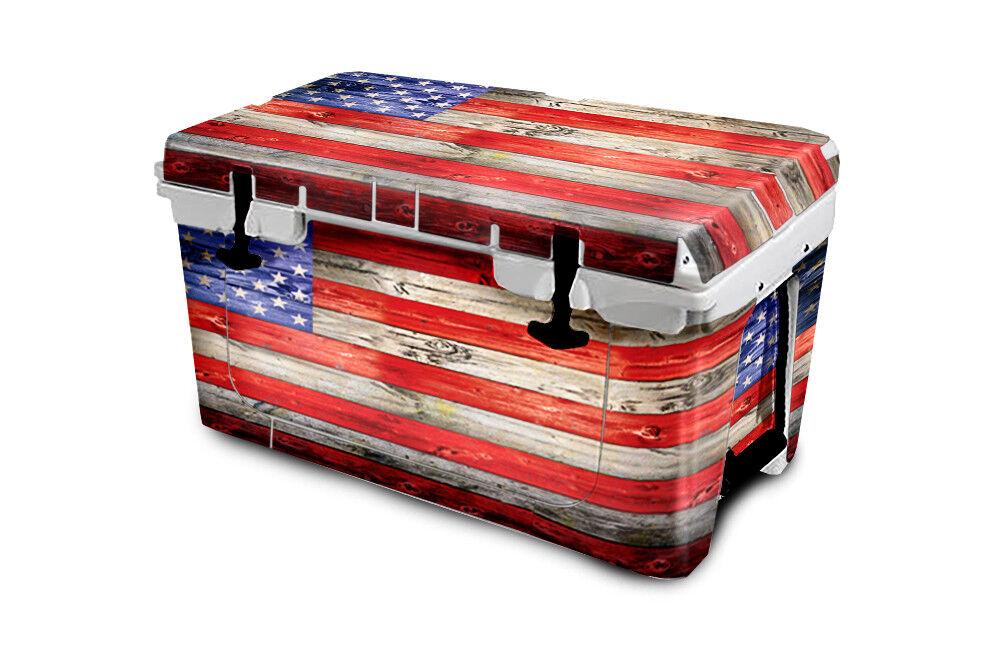 USATuff Cooler Wrap Decal 'Fits 'Fits 'Fits New Mold' RTIC 65QT FULL USA Flag Wood Farbe 1457e5