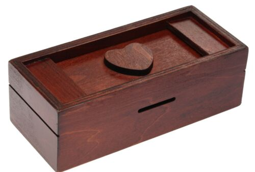 MYSTERIOUS 4 STEP PUZZLE GIFT BOX -  gift card holder - cash - tickets - lottery