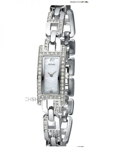 Genuine Accurist Ladies MOP face and CZ set bezel and bracelet watch LB1317P £95