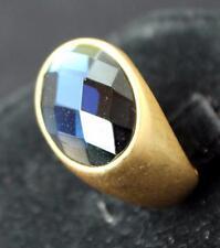 New Signed LIA SOPHIA Goldtone Oval Rhinestone DUCHESS Ring Size 7