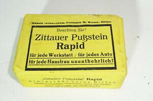 Zittauer Putzstein Rapid For Car Workshop Household Cleaning Product 1930er (V2