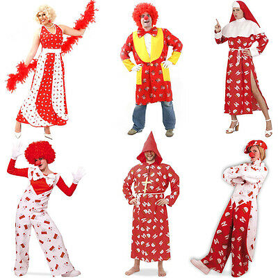 Colonia Kostüm Kölle Herren Damen Clown Kostüm Karnevalskostüm Fasching Köln neu