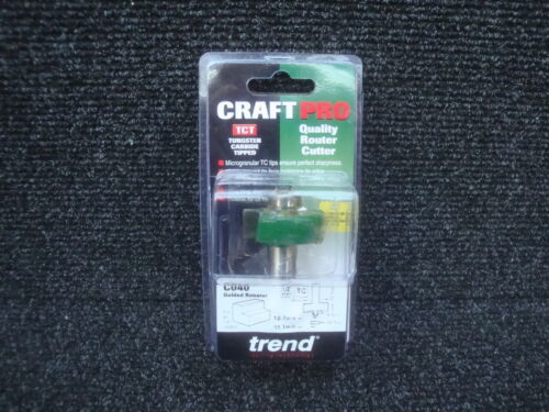 "TREND C040 X 1//2/"" BEARING GUIDED TCT REBATE CUTTER"