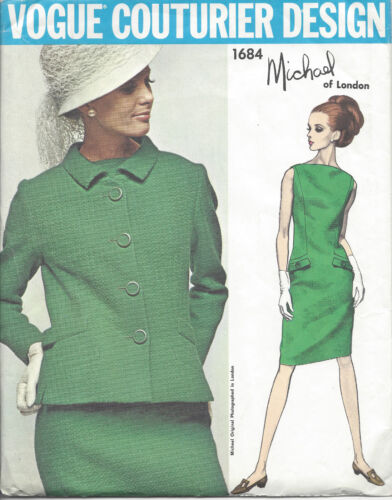 Michael of London 1030 1960s Vintage VOGUE Sewing Pattern B34 DRESS /& JACKET