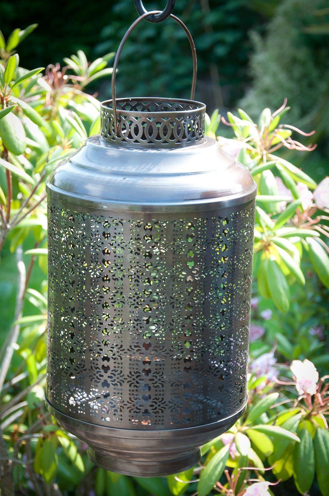 Linterna de jardín grabado ReCochegado sostenedor de vela-perfecto para el hogar o jardín