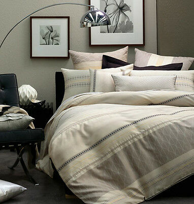 Linen House KING Quilt Cover Set 5 Piece MURCHISON European Pillowcases