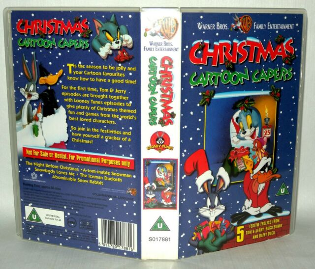 Christmas Cartoon Capers - 1999 -  Vhs Tape & Case. Cert U. Collectable VHS