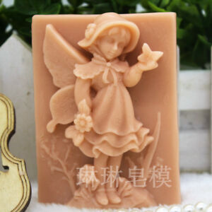 Fairy-Shaped-Silicone-Soap-Molds-Flexible-Handmade-Craft-Candle-Resin-Mould