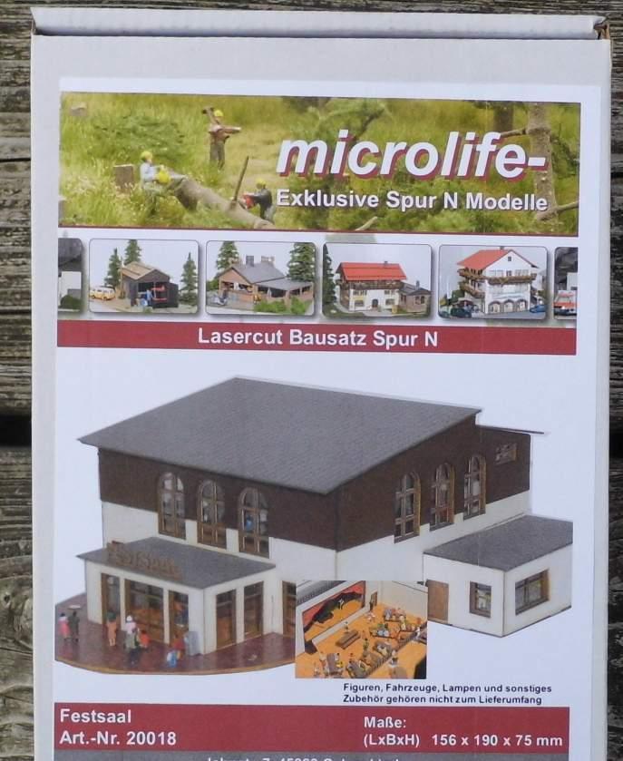 Großer Festsaal  - von Microlife Lasercut Bausatz 1 160 Spur N