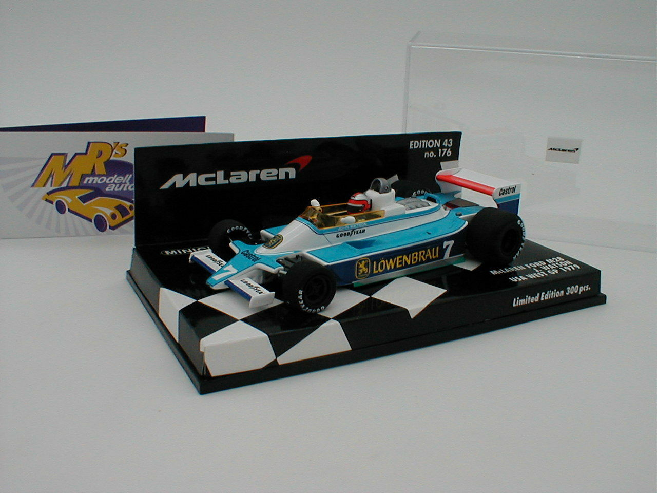 MINICHAMPS 537794397-McLaren Ford m28 USA WEST GP 1979  John Watson  1 43