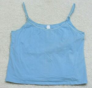 Tank-Top-T-Shirt-Sleeveless-Extra-Large-XL-French-Dressing-Blue-Spaghetti-Strap