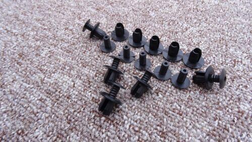 Alfa romeo noir garniture panneau de fixation clips pack de 10