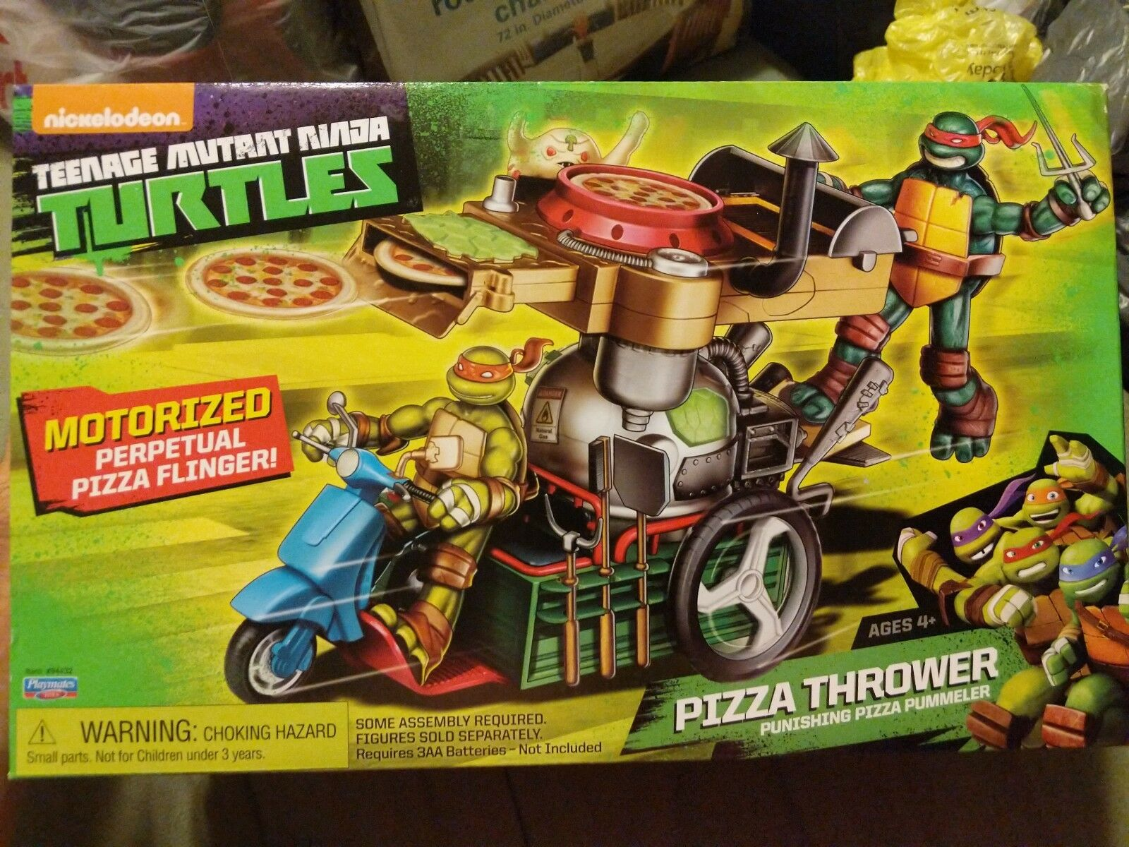 Teenage Mutant Ninja Turtles Turtles Turtles Motorized Pizza Thrower
