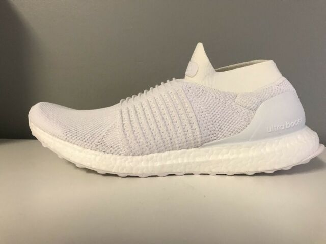 6c884238d6bb8 Adidas Ultra Boost Laceless Mens BB6146 Non-Dyed Primeknit Shoes Size 7.5 11  12