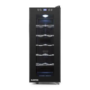 NEVERA PARA VINOS 35 L VINOTECA LED 12 BOTELLAS PANEL...
