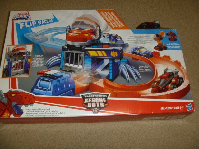 Playskool Heroes Transformers Rescue Bots Flip Racers Chomp and Chase Race Set