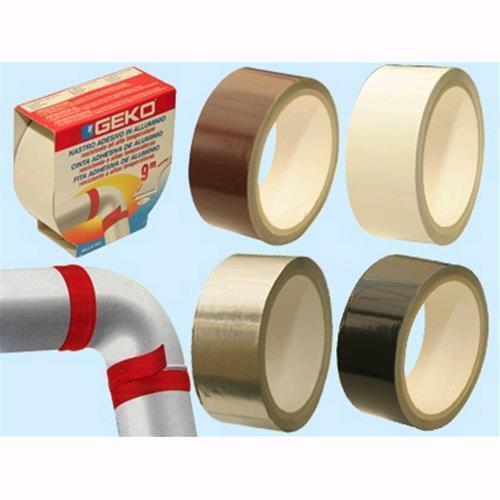 Nastro in alluminio mt alta temperatura cm.4x9 mt alluminio - Marrone Conf. 10 Pz 24a3b4