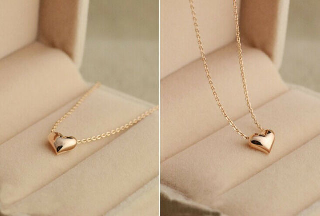 Fashion Womens Gold Plated Heart Bib Statement Chain Pendant Necklace Jewelry 7 For Sale Online Ebay