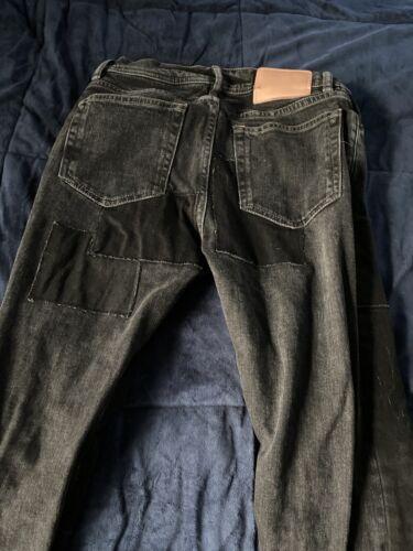 Acne Studios North Black Patch jeans 29x32