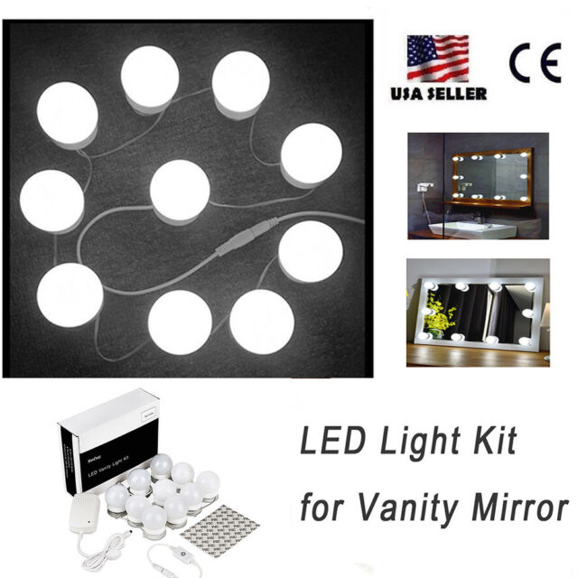 Led Mirror Lights Kit For Makeup Dressing Table Vanity With Dimmer