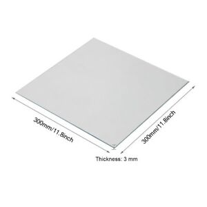 Clear Borosilicate Glass Heat Bed 300x300x3mm for 3D Printers CR-10 CR-10S S3