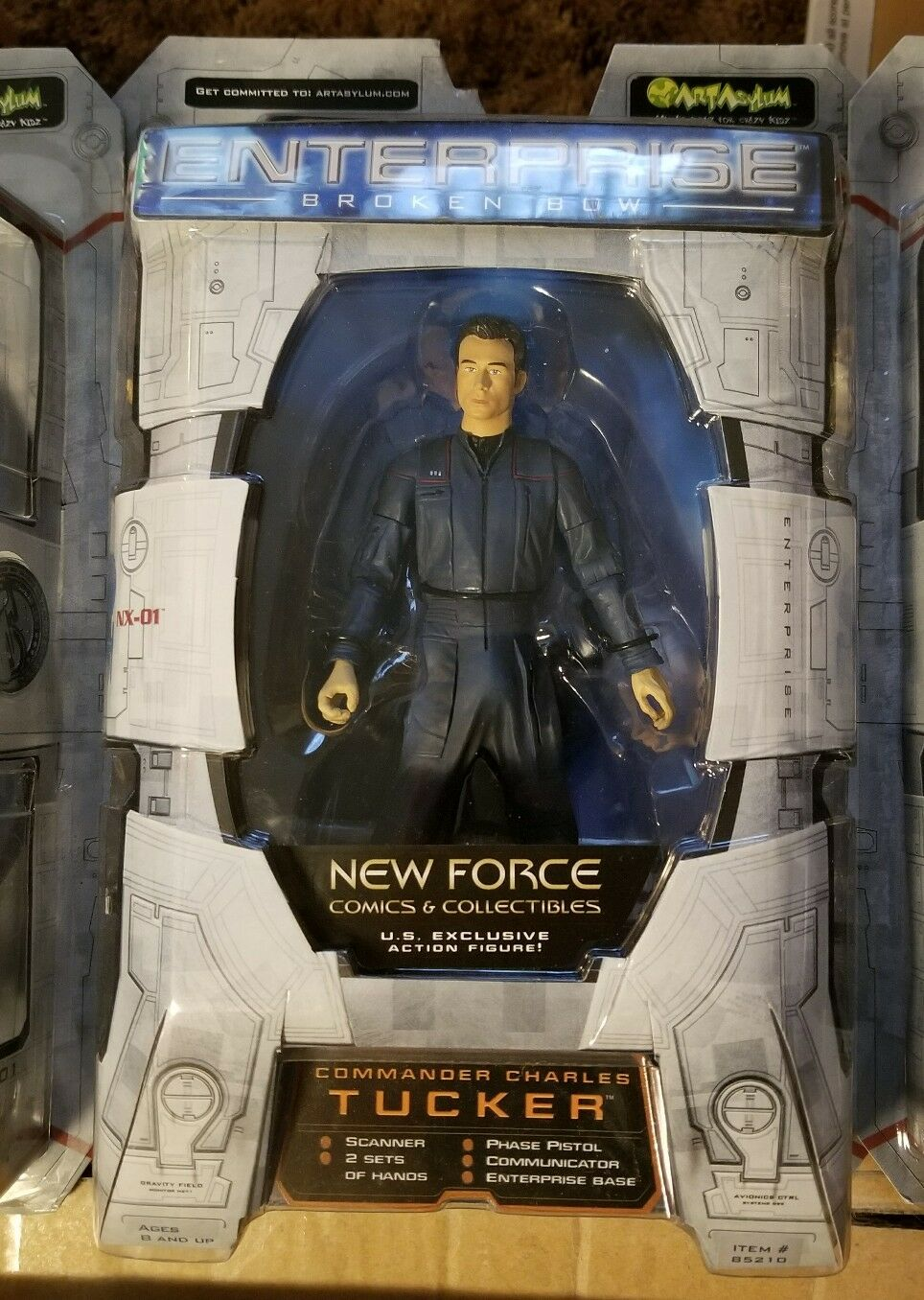 Star Trek Enterprise Broken Bow Trip Tucker by Art Asylum nos Exclusivo Figura