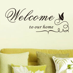 Welcome-to-our-home-Quote-Removable-Vinyl-Decal-Wall-Sticker-Home-Decor-DIY-N-S7