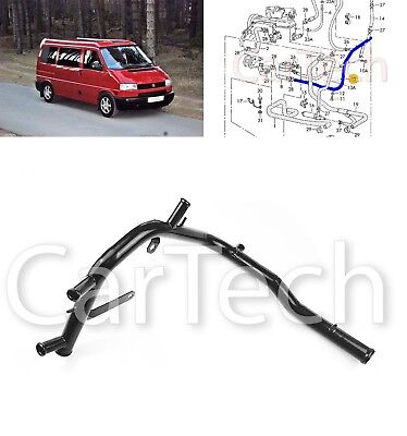VW TRANSPORTER T4 1.9 D METAL WATER COOLANT PIPE TUBE 028121065Q ABL