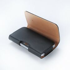Fashion PU Leather Horizontal Belt Clip Holster Pouch Case Cover For iPhone 4 4S
