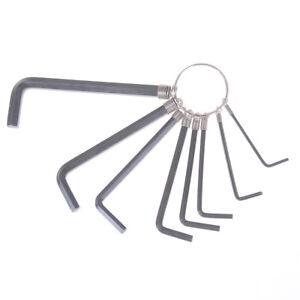 8 dans 1 1.5 mm ~ 6mm hex Key clé Allen Set métrique kit outil à main